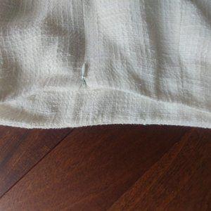 "White Lined woven  pencil skirt 35"" waist"
